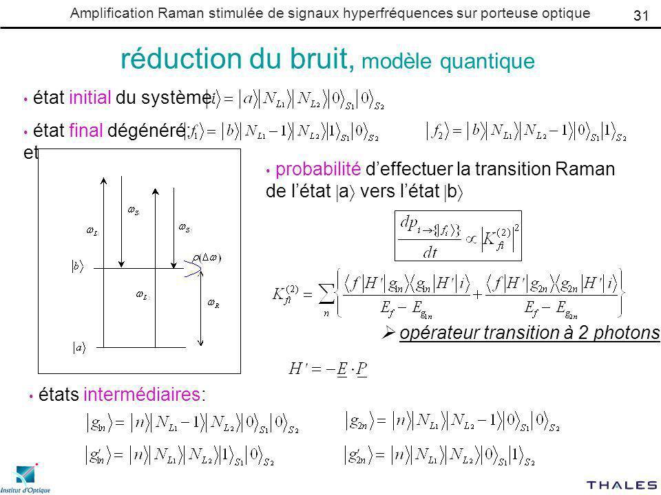 réduction du bruit, modèle quantique