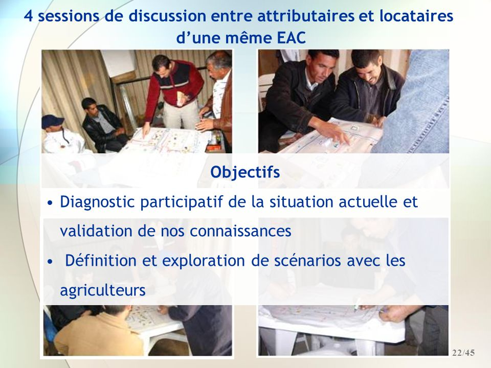 4 sessions de discussion entre attributaires et locataires