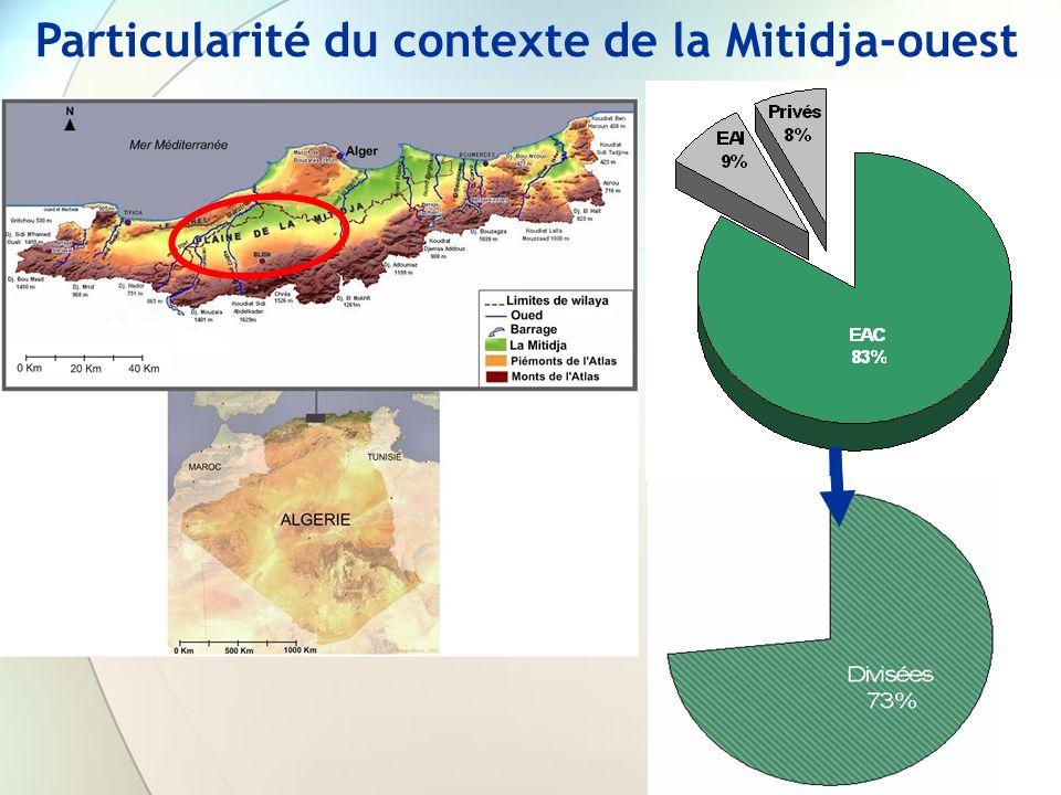 Particularité du contexte de la Mitidja-ouest