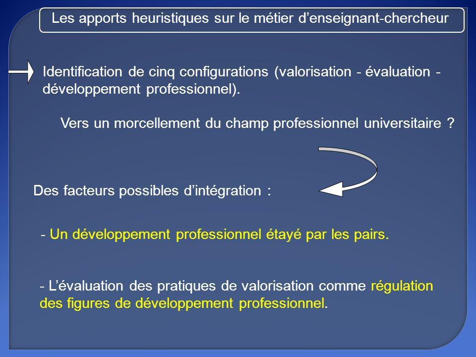 Les apports heuristiques sur le métier d'enseignant-chercheur
