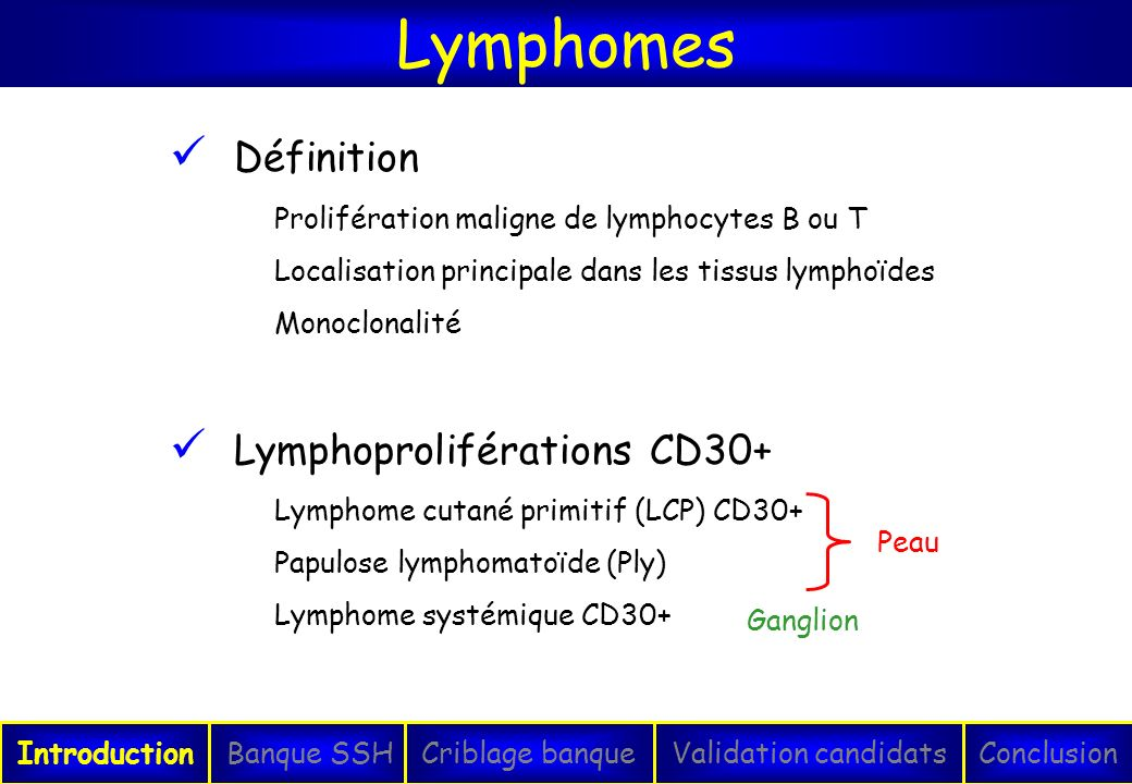 Lymphomes Définition Lymphoproliférations CD30+