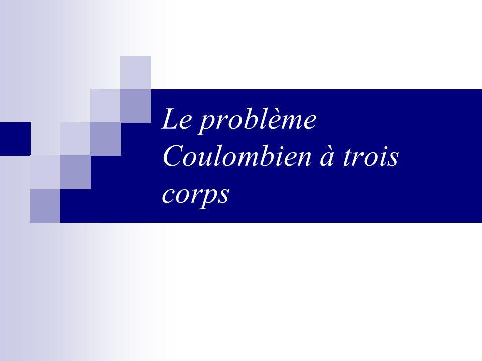 Le problème Coulombien à trois corps