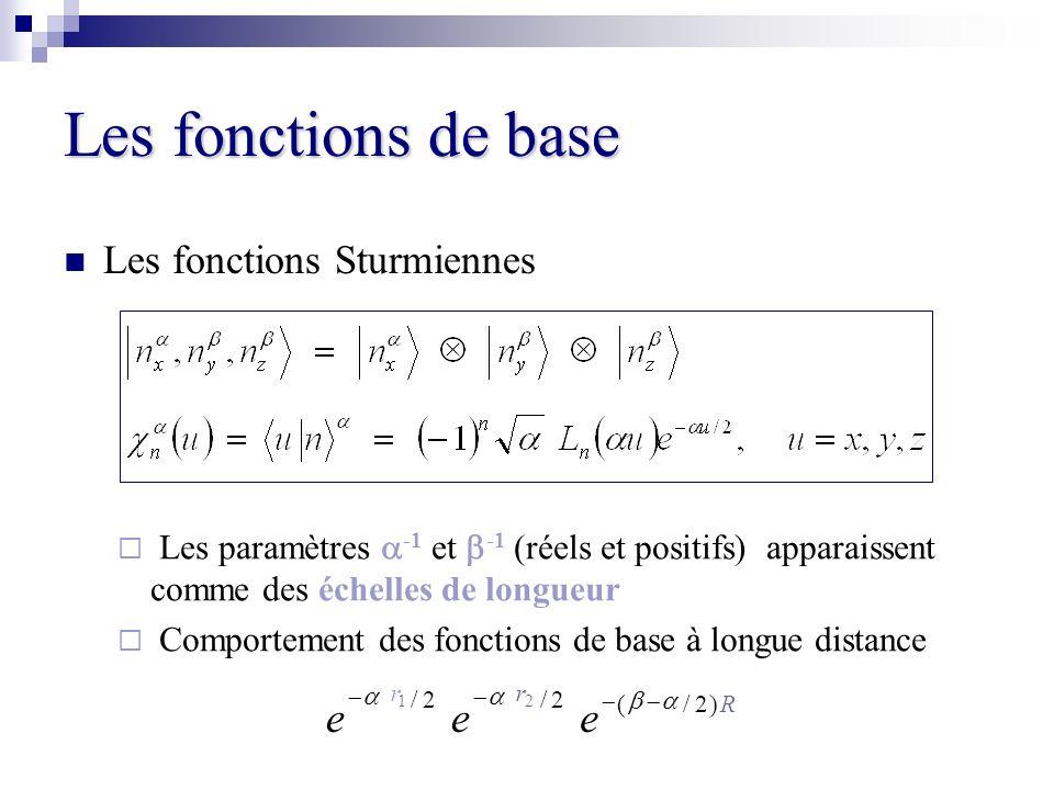 Les fonctions de base e Les fonctions Sturmiennes