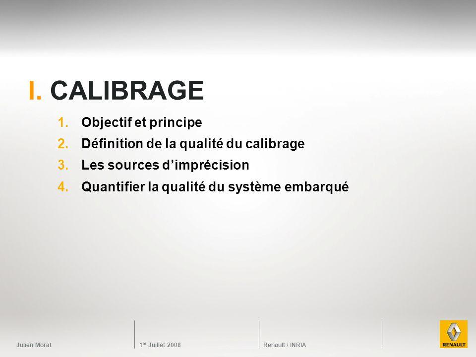 I. calibrage Objectif et principe