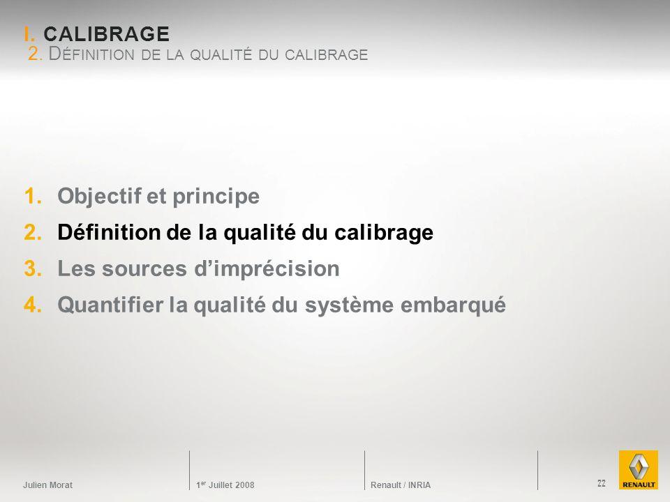 2. Définition de la qualité du calibrage