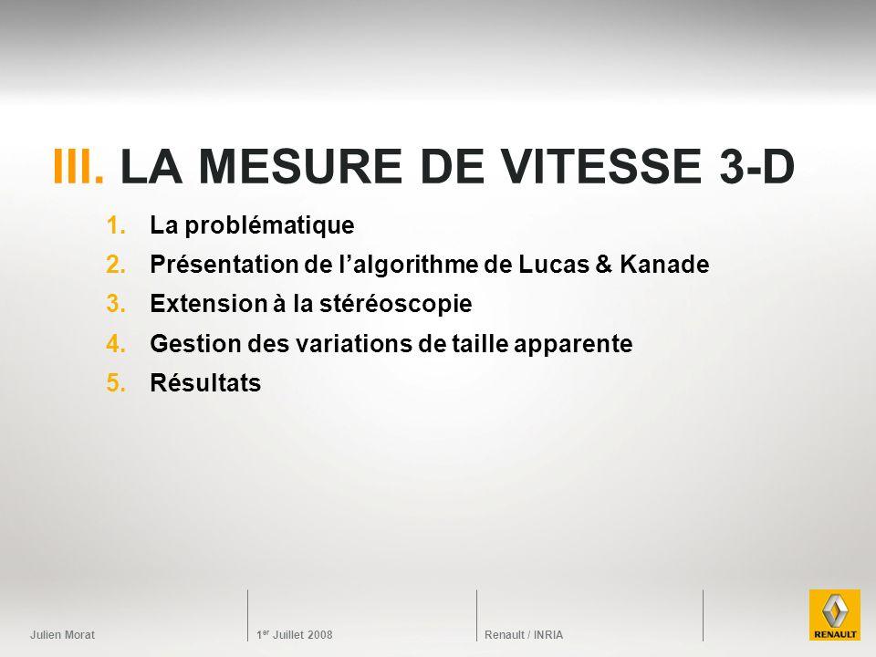 III. La mesure de vitesse 3-D