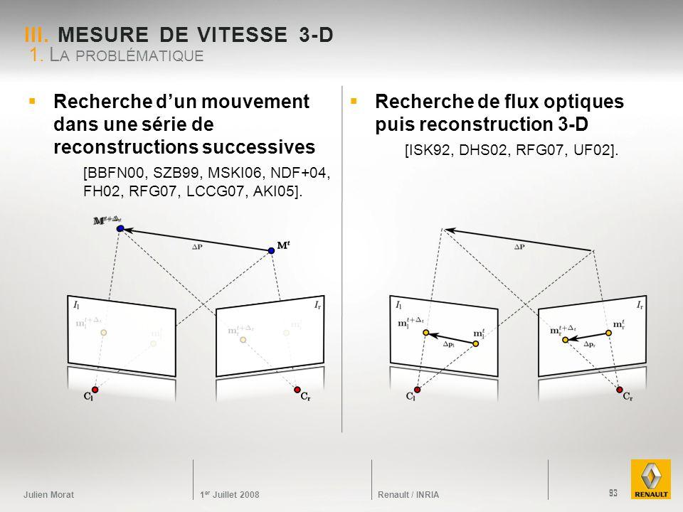 III. Mesure de vitesse 3-D