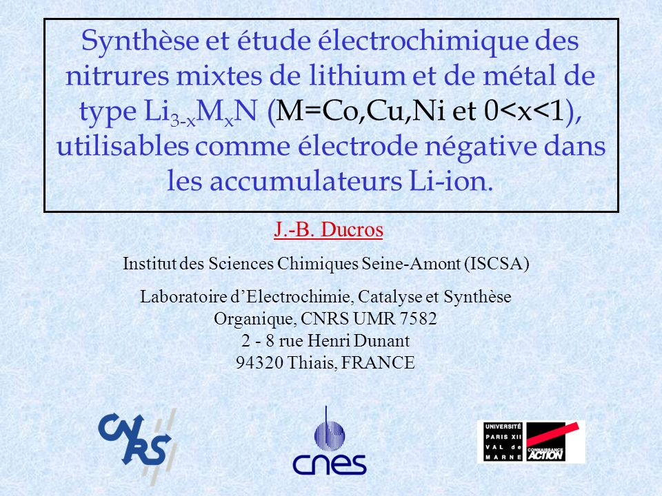 Institut des Sciences Chimiques Seine-Amont (ISCSA)
