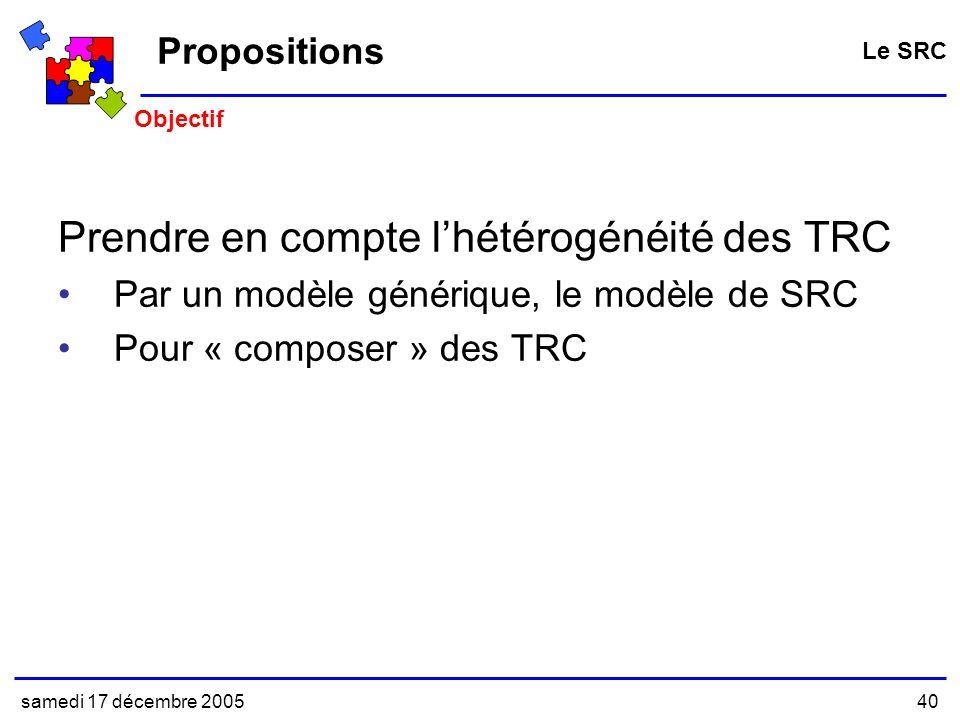 Prendre en compte l'hétérogénéité des TRC