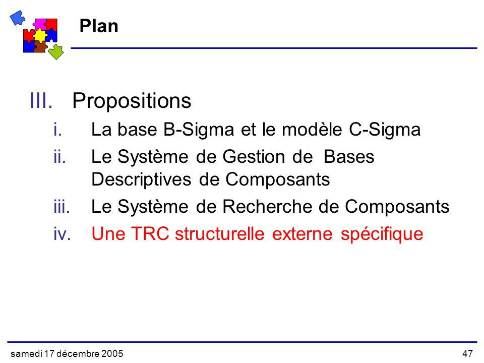 Propositions Plan La base B-Sigma et le modèle C-Sigma