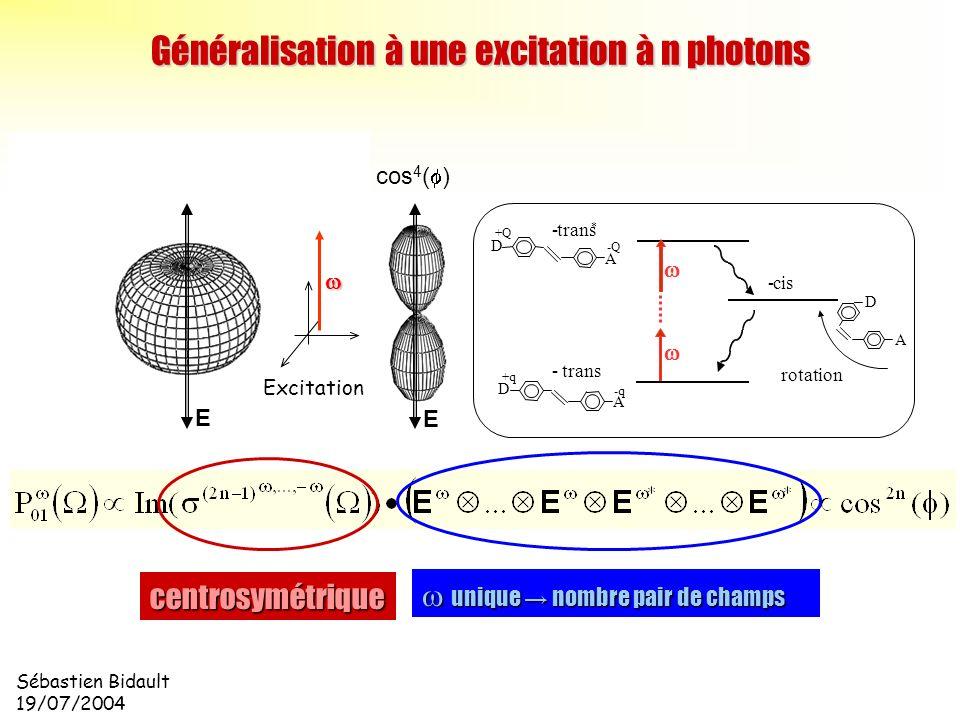 Généralisation à une excitation à n photons