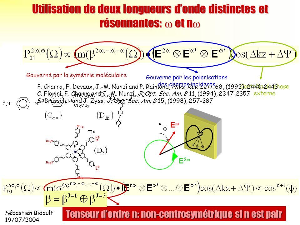 Utilisation de deux longueurs d'onde distinctes et résonnantes: w et nw