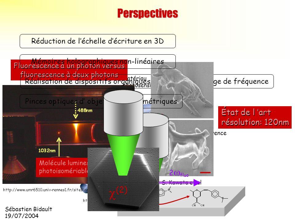 c(2) Perspectives État de l 'art résolution: 120nm