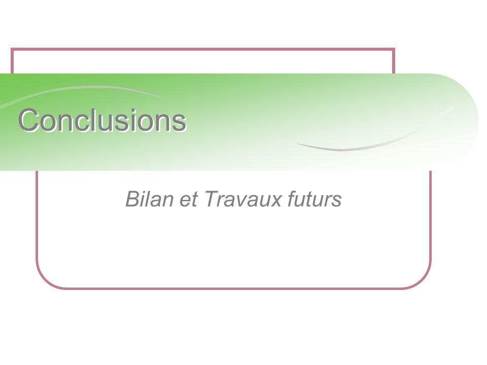 Bilan et Travaux futurs