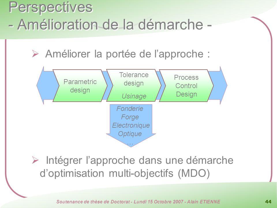 Perspectives - Amélioration de la démarche -