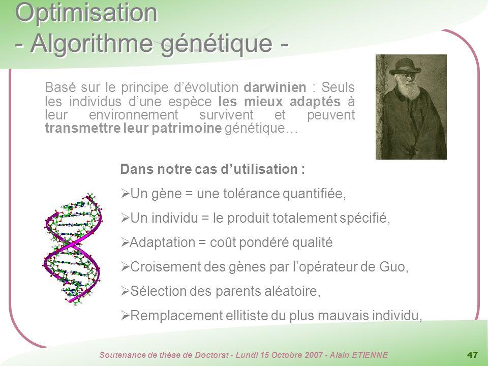 Optimisation - Algorithme génétique -