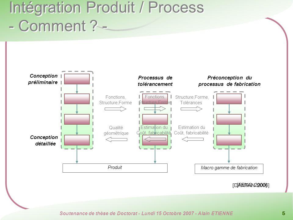 Intégration Produit / Process - Comment -