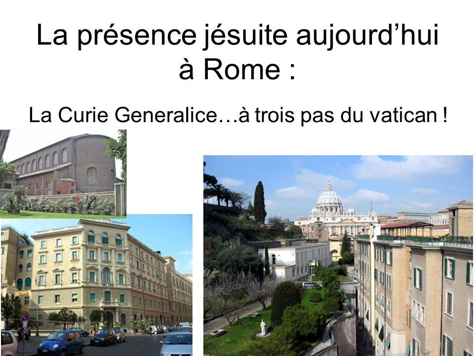 La présence jésuite aujourd'hui à Rome :