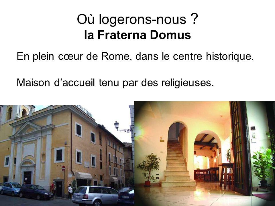 Où logerons-nous la Fraterna Domus