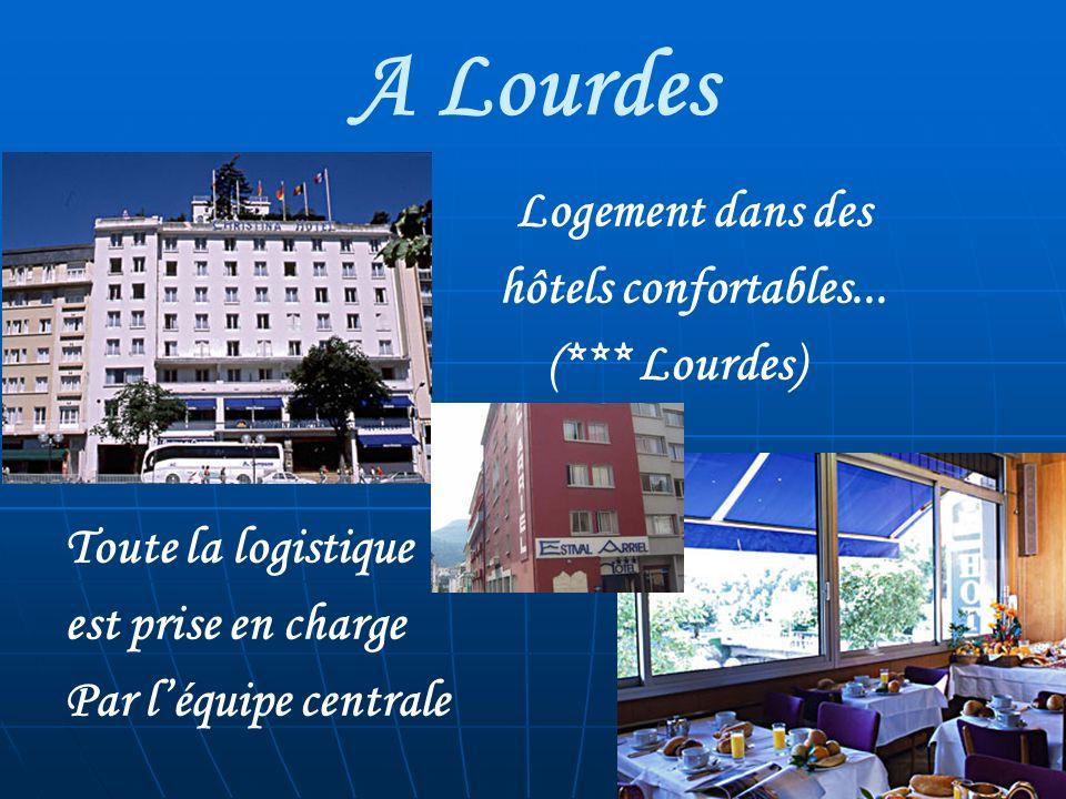 A Lourdes Logement dans des hôtels confortables...