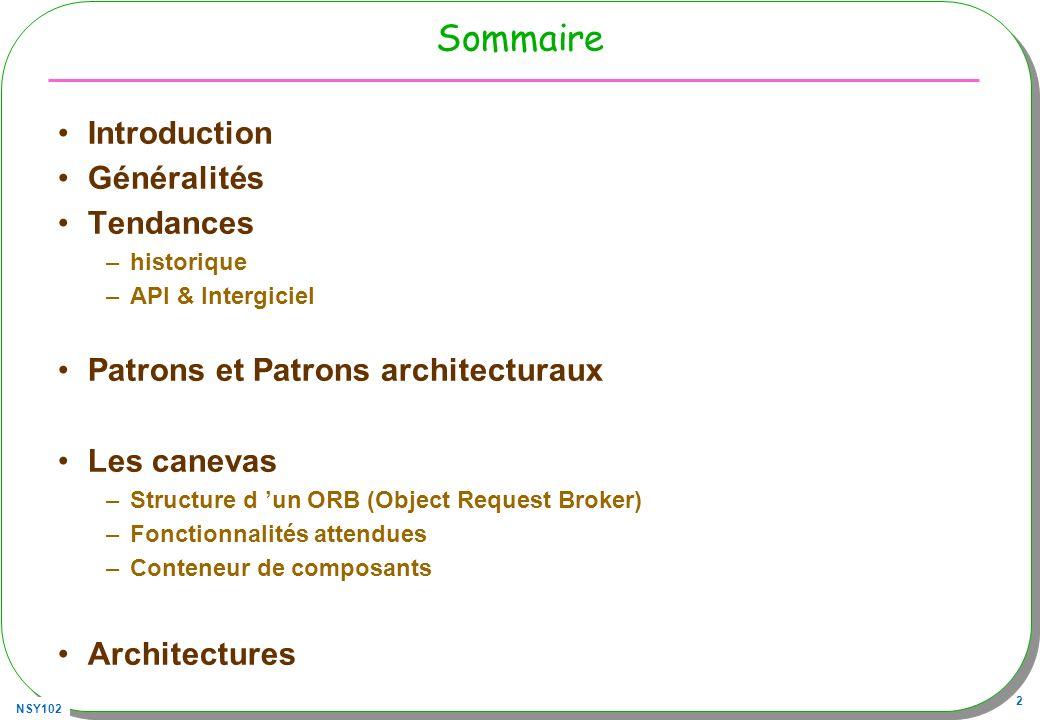 Sommaire Introduction Généralités Tendances
