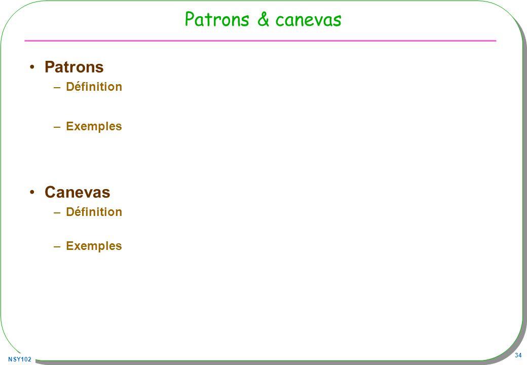 Patrons & canevas Patrons Définition Exemples Canevas