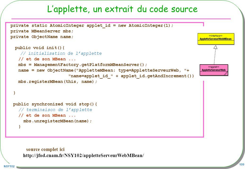 L'applette, un extrait du code source