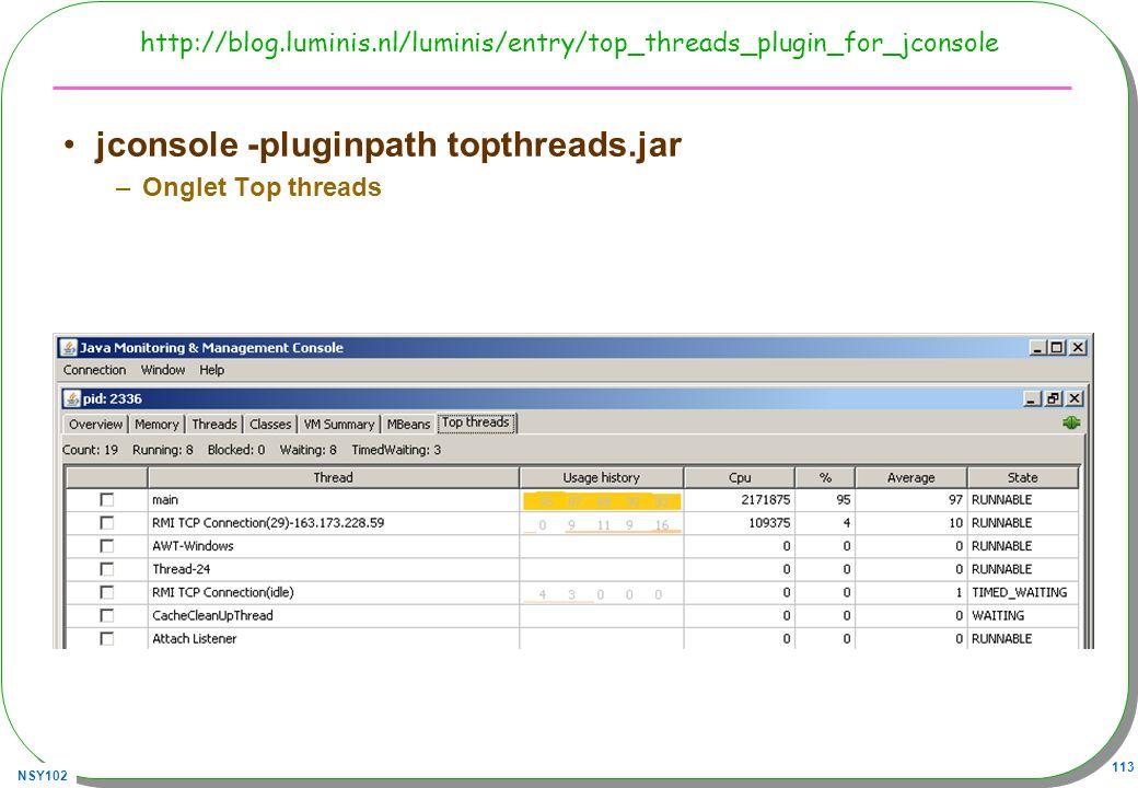 jconsole -pluginpath topthreads.jar