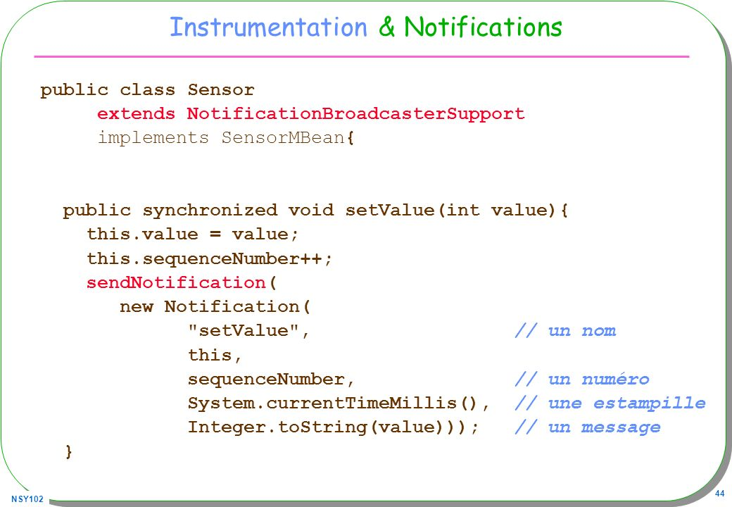 Instrumentation & Notifications
