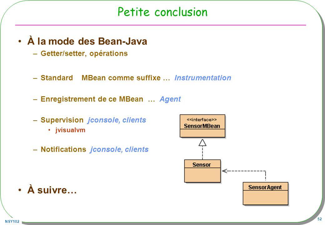 Petite conclusion À la mode des Bean-Java À suivre…