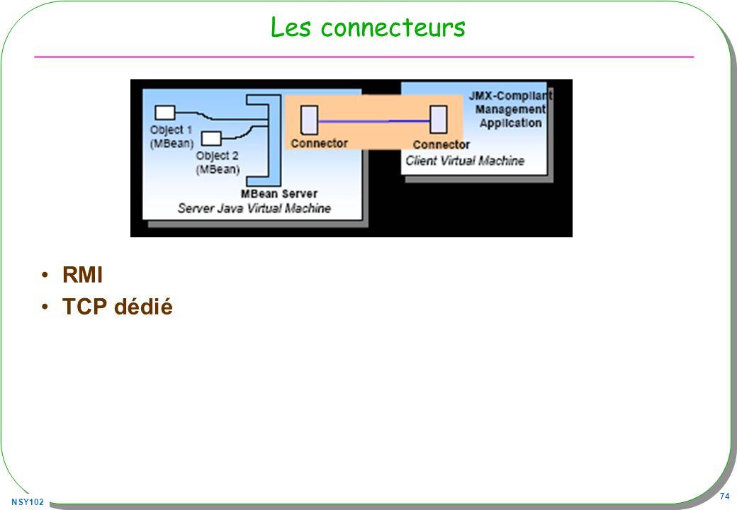 Les connecteurs RMI TCP dédié