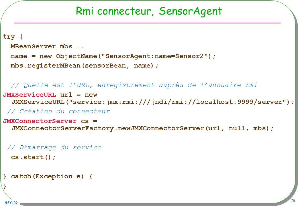 Rmi connecteur, SensorAgent