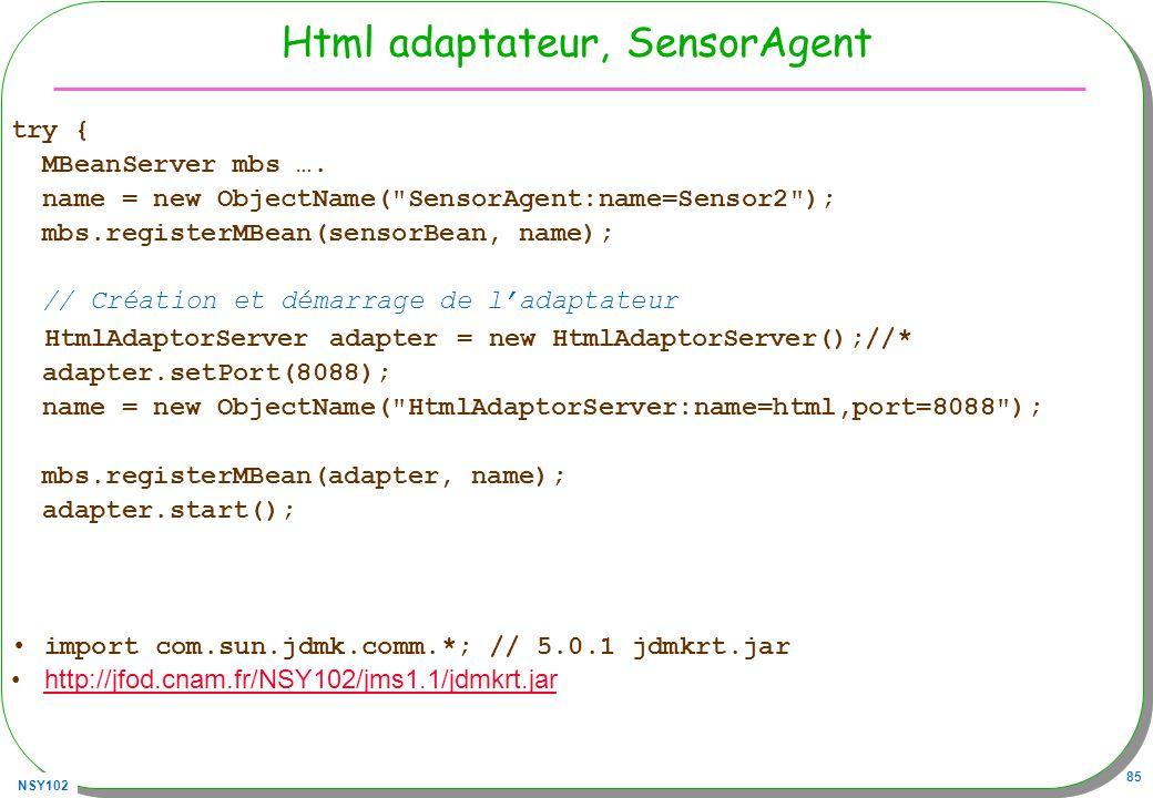 Html adaptateur, SensorAgent
