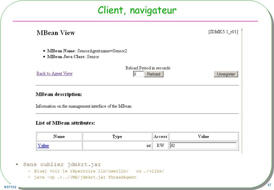 Client, navigateur Sans oublier jdmkrt.jar