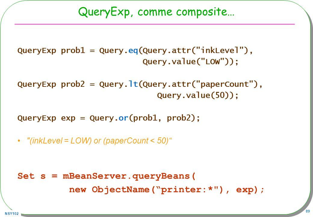 QueryExp, comme composite…