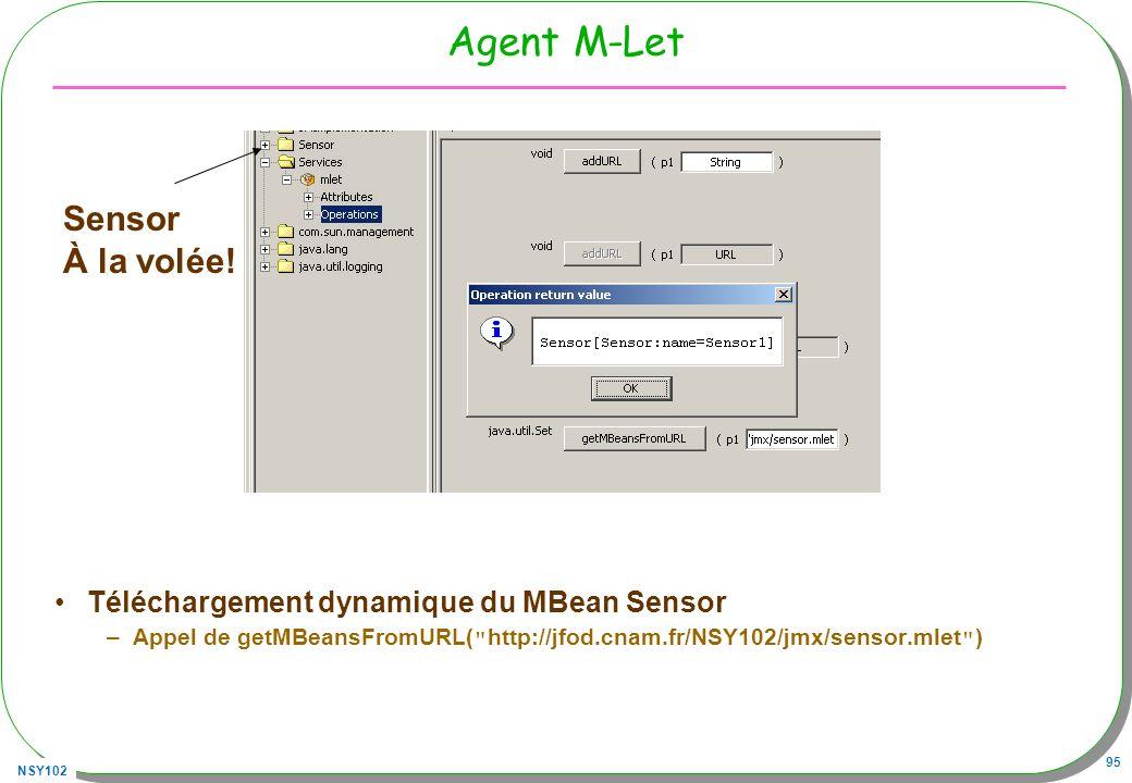 Agent M-Let Sensor À la volée!