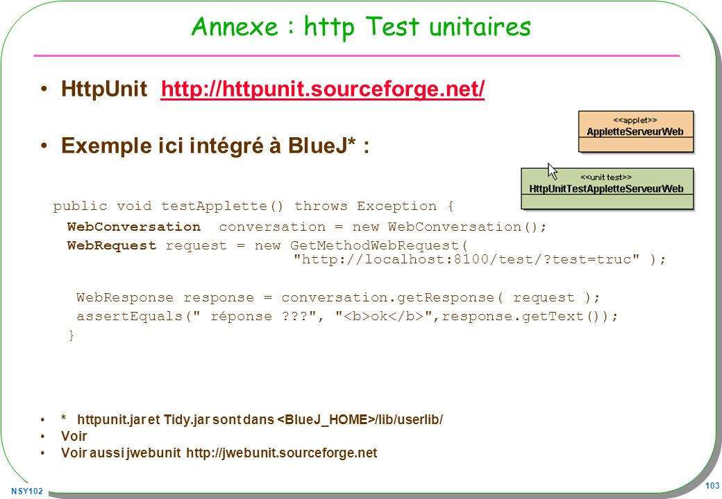 Annexe : http Test unitaires