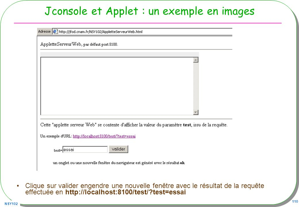 Jconsole et Applet : un exemple en images