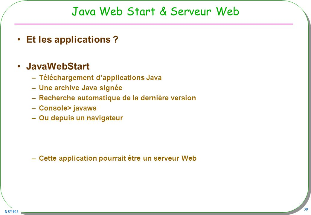 Java Web Start & Serveur Web