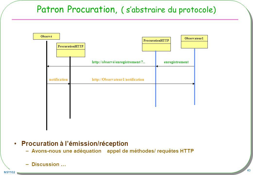 Patron Procuration, ( s'abstraire du protocole)