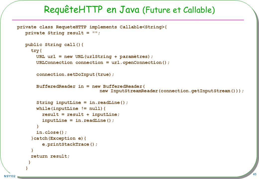 RequêteHTTP en Java (Future et Callable)