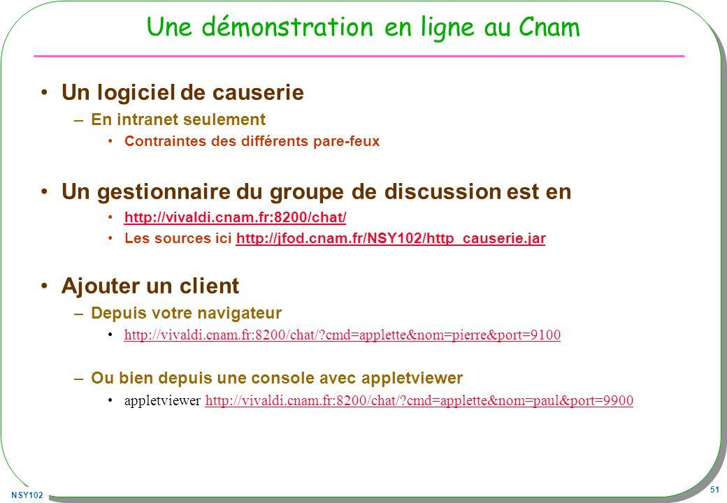 Une démonstration en ligne au Cnam