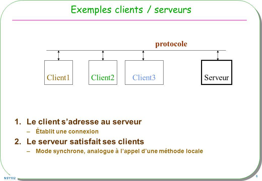 Exemples clients / serveurs