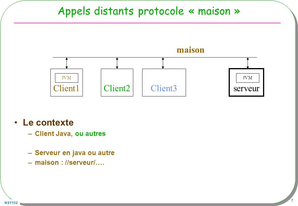 Appels distants protocole « maison »