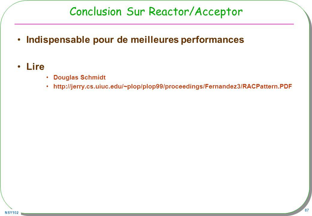 Conclusion Sur Reactor/Acceptor