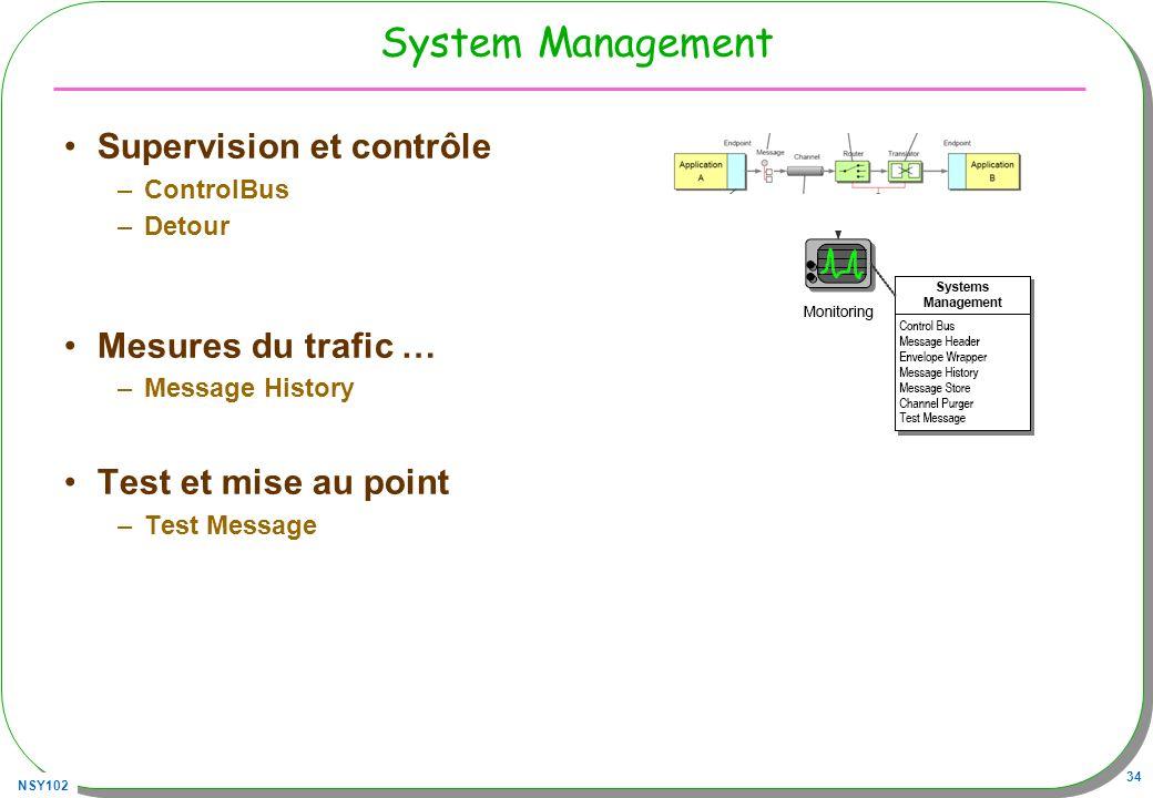 System Management Supervision et contrôle Mesures du trafic …