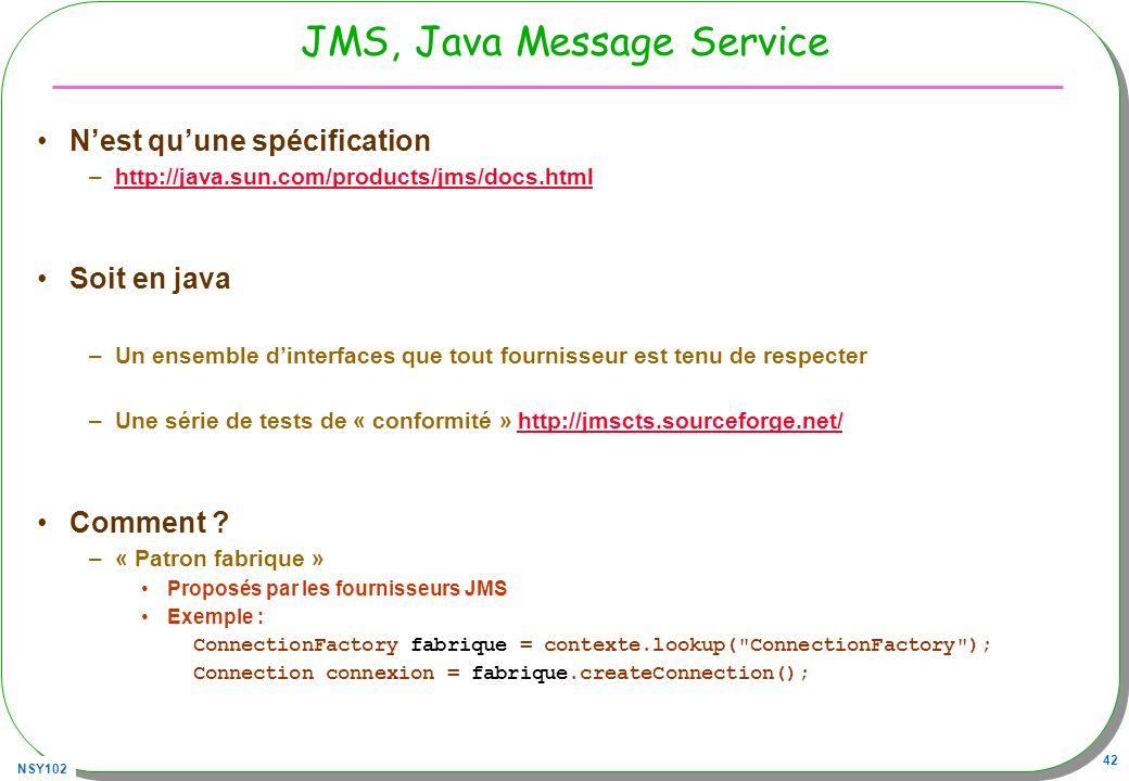 JMS, Java Message Service