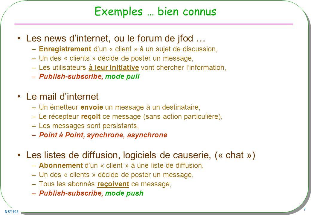 Exemples … bien connus Les news d'internet, ou le forum de jfod …