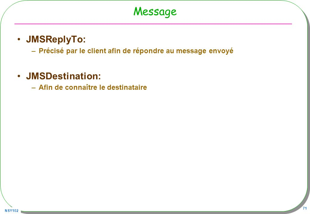 Message JMSReplyTo: JMSDestination: