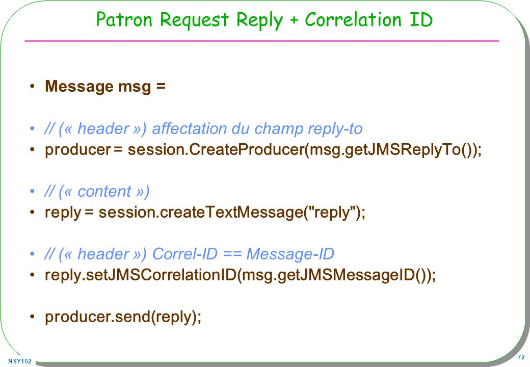 Patron Request Reply + Correlation ID